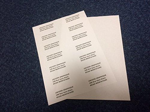 Lot de 10 Planches A4 d'étiquettes autocollantes pour imprimer les adresses de courrier, mailing