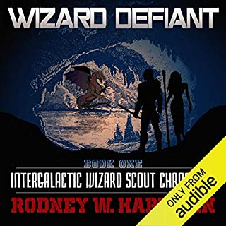 Wizard Defiant     Intergalactic Wizard Scout Chronicles, Book 1              By:                                                                                                                                 Rodney Hartman                               Narrated by:                                                                                                                                 Guy Williams                      Length: 9 hrs and 8 mins     1,303 ratings     Overall 4.4
