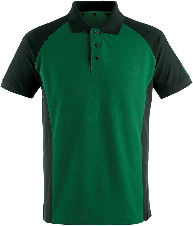 Mascot 505699610309XS Bottrop Polo Shirt, XSmall, Green Black