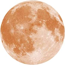 Adesivo de parede luminoso removível da Lua que brilha no escuro da BESPORTBLE, decoração de parede 3D, lua para quarto de...