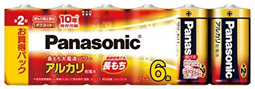 パナソニック 単2形アルカリ乾電池 6本パック LR14XJ/6SW
