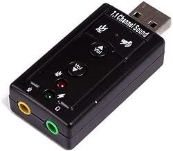 USB 2.0 External 7.1 Channel 3D Virtual Audio Sound Card Mic Adapter PC Laptop