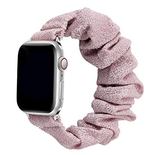 Correa para Apple Watch Band 40 mm 44 mm 42 mm 38 mm 42 mm Nylon elástico Solo Loop Pulsera para IWatch Series 6 5 4 3 Se Band-rosa rojo dorado, 42 mm o 44 mm