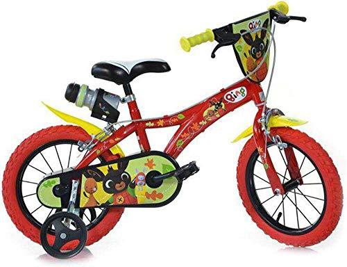 Giordanoshop - Bicicleta Infantil Dino Bikes-14 Bing Roja, 2 Frenos, 3