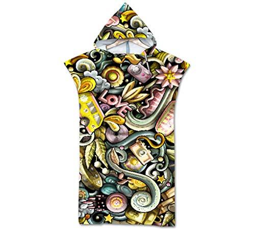 KaiXINSun Schöne Farbige Blumen Kamera Robe Hooded Quick Dry Poncho Handtuch Bademantel Frauen Männer Strand Schwimmen Surfen Neoprenanzug Reise Strandtuch 75 * 110 cm