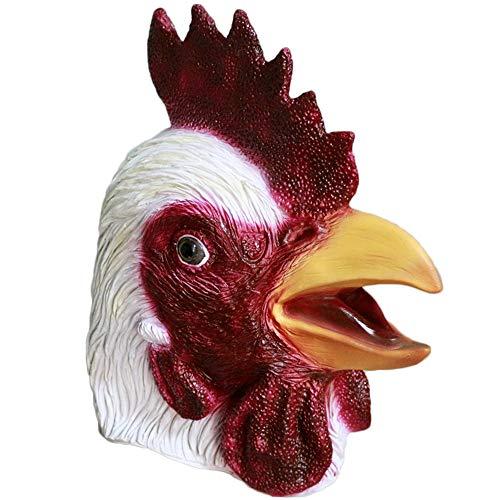 MASCARELLLO Pollo Rooster Latex Capo Animale Stag Hen Turchia Mask Grazie alla Festa di Halloween Cosplay Costume Maschera di Abiti da Donna
