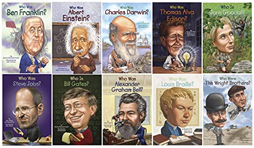 School Specialty Who was? Biographies Scientists and Inventors Book Set, Set of 10