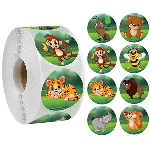 YRSM 500 piezas/rollo de dibujos animados de animales de la etiqueta de patrón de la abeja de la etiqueta de la recompensa de los niños etiqueta engomada padre maestro