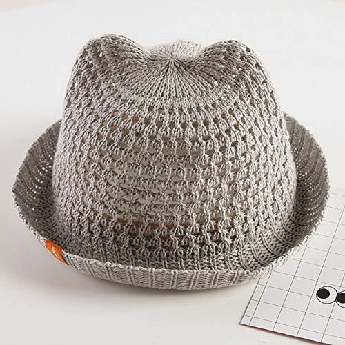 mlpnko Sombrero de bebé 6-12 Meses Gorro de Cuenca para bebé Sombrero de sombrilla para niño Gorro de Malla Fresca código Gris (niños)