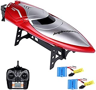 Lictin Remote Control Boat-Kids RC Boat 2.4GHz High Speed RC Boat Electric Racing Boat with 2 Batteries The Sailing Time up to 14min for Kids