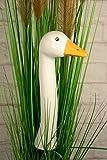 Gartenstecker Gänsehals '1 Keramik-Gänsehälse in weiß' das Original von Tangoo