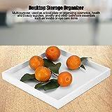 Mehrzweck Serviertablett Desktop Storage Organizer Valet Tablett für Schmuck Lebensmittel Kosmetik Weiß - 4