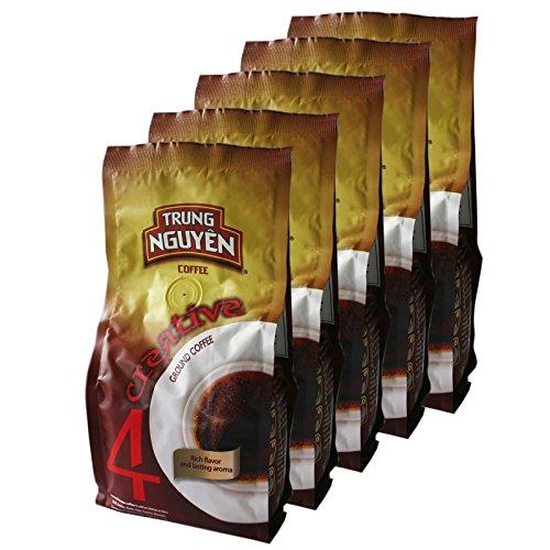5x250g Trung Nguyen Creative 4 Vietnam Kaffee gemahlen (Arabica,Robusta,Excelsa,Catimor)