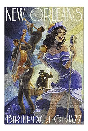 Goodckn Rompecabezas para Adultos Niños, New Orleans, Louisiana - Jazz Scene Puzzles y Rompecabezas de 1000 Piezas