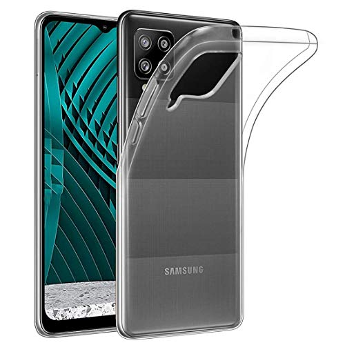 Amazon Brand – Solimo Mobile Cover for Samsung Galaxy M12 (Soft & Shockproof Back Case with inbuilt Cushioned Edges), Transparent