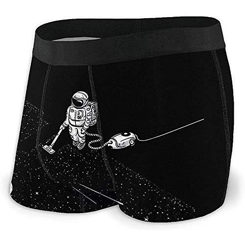 Web--ster Lustiger Astronauten-Staubsauger reinigt Stars In Space Boxershorts aus weicher, atmungsaktiver Baumwolle No Ride Up Unterwäsche für Männer Größe XL