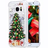 Galaxy S7 Case, Flocute Galaxy S7 Glitter Christmas Case Bling Sparkle Floating Liquid Soft TPU Cushion Luxury Fashion Girly Women Cute Case for Samsung Galaxy S7 (Christmas Tree)