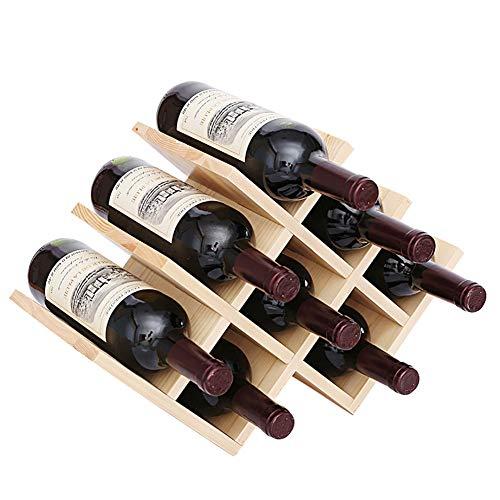 JKLJKL wijnrek vlinder, 8 flessen wijn, houten wijnrek, minimale componentenbehoeften, geschikt voor bars, wijnkasten, kelders, voedselkasten, enz.