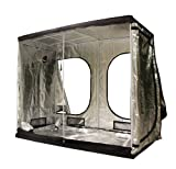 FoxHunter New Design Quality Portable Grow Tent Silver Mylar Green Room Hydroponic Bud Room Dark Room 240cm x...