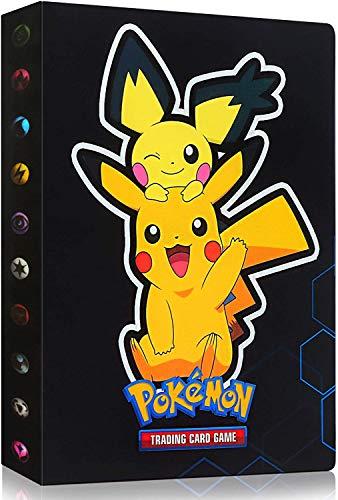 Classeur Carte Pokemon, Album Classeur Livre, Pokemon Carte Album, Albums Pokemon GX EX Trainer, 30 Pages Peut contenir jusqu'à 240 Cartes pour Pokémon Commerce Cartes GX EX (Pikachu)