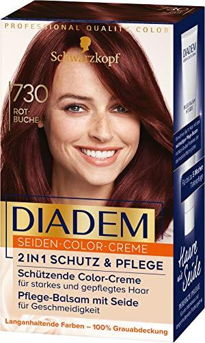 Diadem Schwarzkopf Seiden-Color-Creme, hochwertige Haarfarbe 730 Rotebuche Stufe 3, 3er Pack (3 x 170 ml)