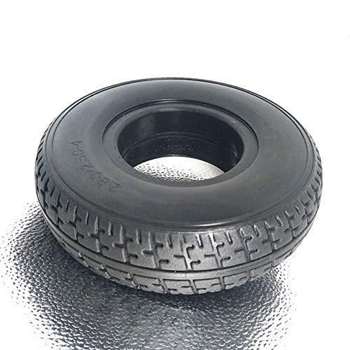 RENNICOCO Batería Coche Neumático sólido 2.80/2.50-4 movilidad Scooter Neumático para silla de ruedas