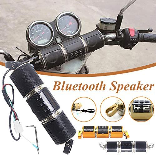 HoSayLike Moto Bluetooth Altavoz Mp3 Car Audio Reproductor De MúSica para Manillar...