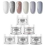 ROSALIND Dipping Powder Colours Set,Nails Dip Glitter Powder Collection, Nail Art Acrylic Powder Set, Manicure Nail Dip Salon Kit 10g (04)
