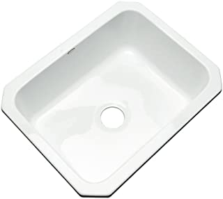 Thermocast 22000UM Inverness Single Bowl Undermount Cast Acrylic Kitchen Sink, 25-Inch, White