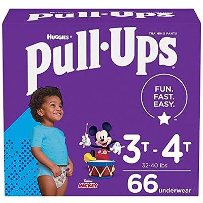 Pull-Ups Boys' Potty Training Pants Training Underwear Size 5, 3T-4T, 66 Ct from Kimberly-Clark Corporation