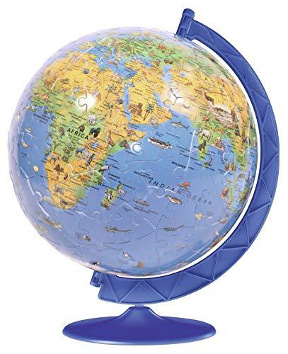 Ravensburger Children's World Globe, 180pc 3D Jigsaw Puzzle