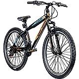 Jugendfahrrad 26 Zoll Mountainbike Fahrrad 26' Geroni Magnum Hardtai MTB Jugend (schwarz/orange/blau, 38 cm)