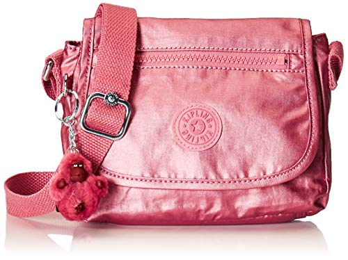 Kipling Sabian Metallic Crossbody Mini Bag Flourishing Pink Metallic