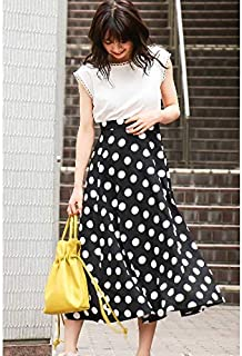 PROPORTION BODY DRESSING(プロポーションボディドレッシング)ミモレドットフレアスカート
