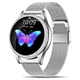 CUIFULI Smart Watches for iPhones IOS Android Smartwatch IP68 Waterproof Fitness Tackers Bluetooth Smart Bracelet Sleep Heart Rate Calorie Monitor Activity Wristband for Women Long Battery Life