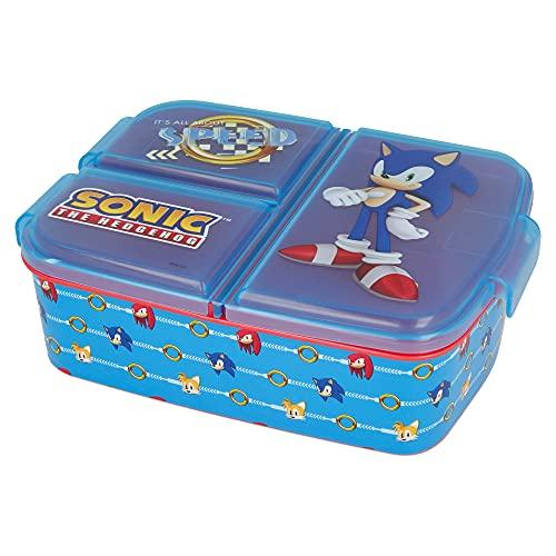 Sonic | Sandwichera con 3 Compartimentos para niños - lonchera Infantil -...