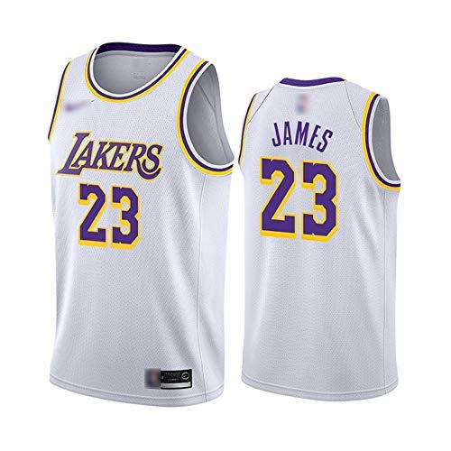 ATI-HSKJ Herren-Basketball-Trikots # 23 Lebron James Weiß Basketball-Spiel Fans Uniform Westen Retro Breath Sleeveless T-Shirt Jersey BH016,2XL:185cm~190cm