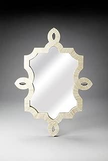 Anjaneya Art Traditional Bone Inlay Wall Mirror White