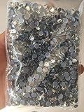 Piedras del Strass a base de pegamento SS6-SS40 Strass Crystal Flatback Rhinestone Glass Stone Diamantes sueltos Piedras del Strass termoadhesivas, 15 bolsas, Transparente SS8 1440PCS