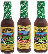 Organic Harvest Gluten Free Pepper Sauce Variety Pack - Jalapeno, Habanero, Chipotle Habanero