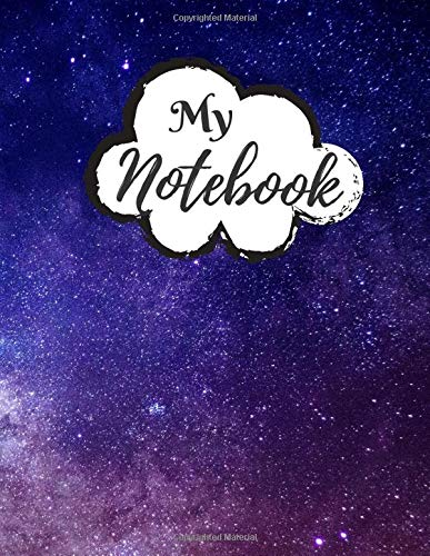 My Notebook: Password Book, Password Logbook and Internet Password Organizer, Alphabetical Password Book, Logbook To Protect Usernames - 120 Pages - ... inches) - Premium Space Galaxy Cover (Vol.03)