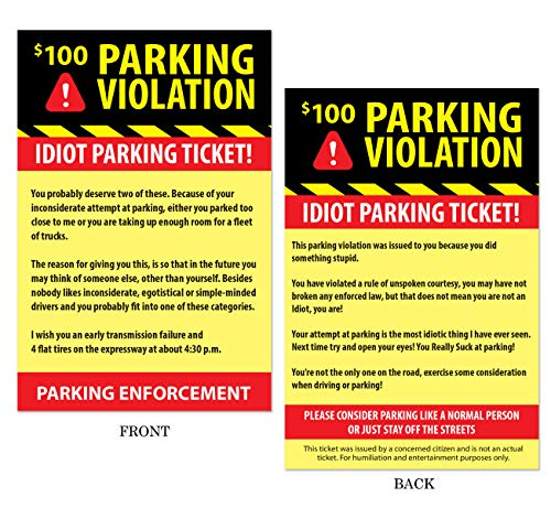Fake Parking Tickets Prank - Pack of 50