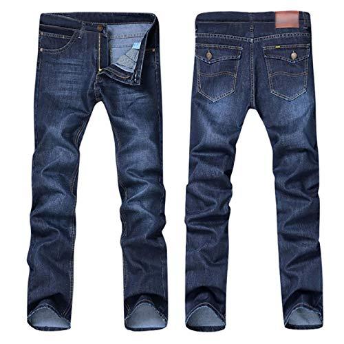 Pantalones Vaqueros Casuales De Mezclilla De Algodón Hip Hop Pantalones De Trabajo Sueltos Pantalones Vaqueros Pantalones De Pierna Recta Casual Sólido 31 Azul