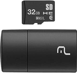 Pen Drive 2 em 1 Leitor USB + Cartão de Memória Classe 10 32GB Preto Multilaser - MC163