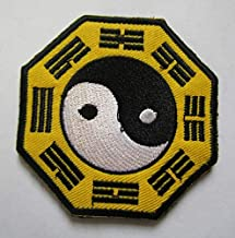 YIN YANG Karate Ying Tai Chi Martial Arts Military Patch Fabric Embroidered Badges Patch Tactical Stickers for Clothes with Hook & Loop