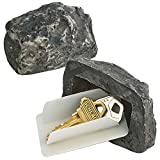 Katzco Hide a Spare Key Fake Rock - 2 Pack, Gray Camouflage Stone Diversion Safe Looks and Feels Like Real Stone Rock, Safe for Outdoor Garden or Yard, Geocaching Popular Practical Performance