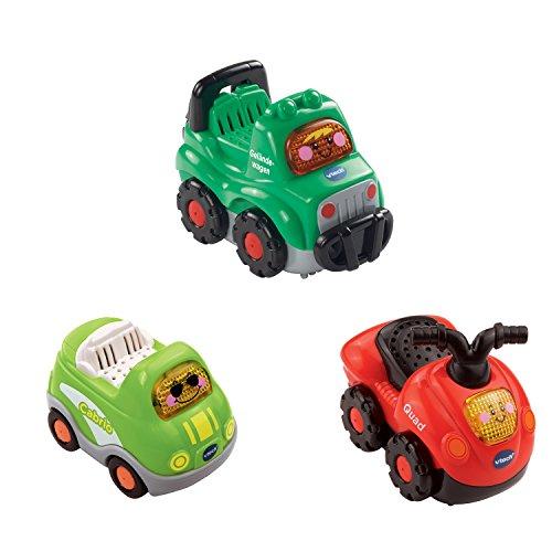 VTech Baby 80-205844 - Tut Tut Flitzer Fahrzeuge - Set 9: Quad, Geländewagen, Cabrio (3er Set)