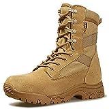 Aegilmcshoes Botas De Combate Táctico del Ejército Transpirable Equipo Militar Zapatos Desierto De Los Hombres De Caza De Alta, El Eje Impermeable Resistente Al Desgaste Táctico Militar,Amarillo,45EU