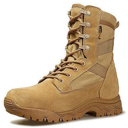 Aegilmcshoes Botas De Combate Táctico del Ejército Transpirable Equipo Militar Zapatos Desierto De Los Hombres De Caza De Alta, El Eje Impermeable Resistente Al Desgaste Táctico Militar