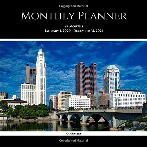 Monthly Planner: Columbus; 24 months; January 1, 2020 - December 31, 2021; 8.5